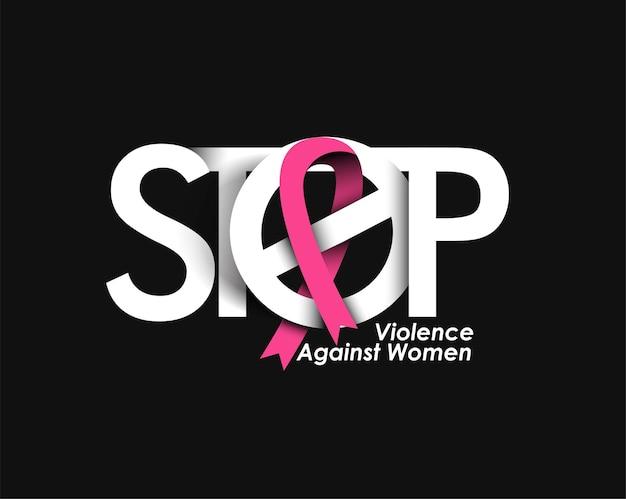 Stop geweld tegen vrouwen op de internationale dag voor de uitbanning van geweld tegen vrouwen