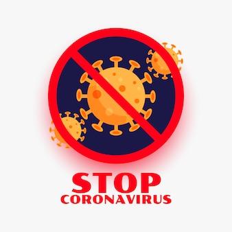 Stop het coronavirus covid-19 infectie uitbarsting symbool ontwerp