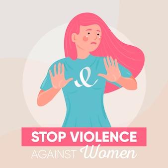 Stop het geweld tegen vrouwenconcept