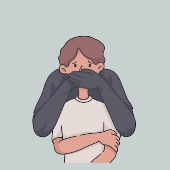 Stop het misbruik misbruikende illustratieconcept