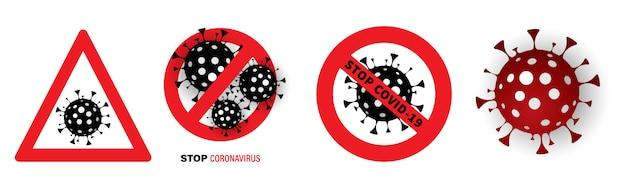 Stop het virus. pandemic stopbord.