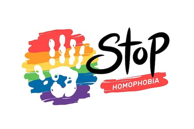 Stop homofobie concept