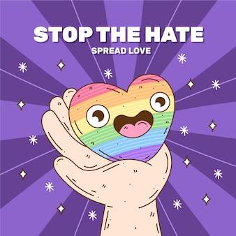 Stop homofobie illustratie