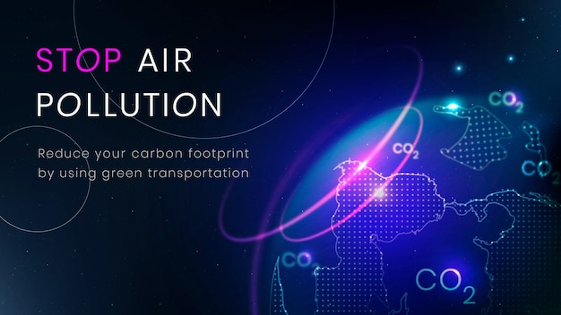 Stop luchtvervuiling sjabloon vector milieu technologie banner