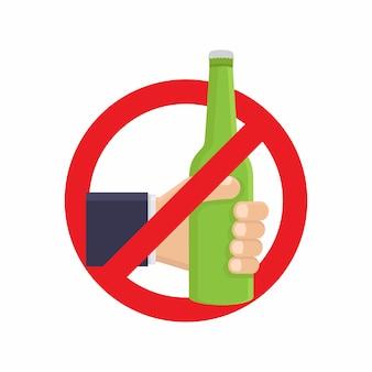 Stop met alcohol drinken