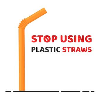 Stop met het gebruik van plastic rietjes