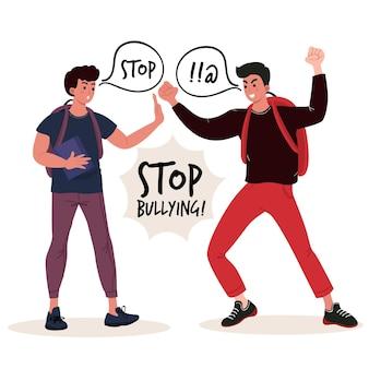 Stop met pesten concept