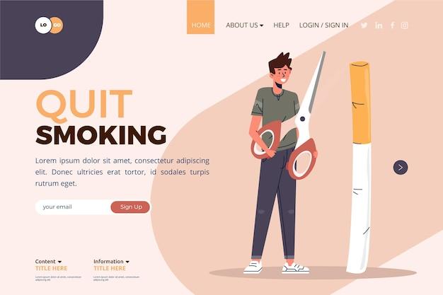 Stop met roken op de bestemmingspagina