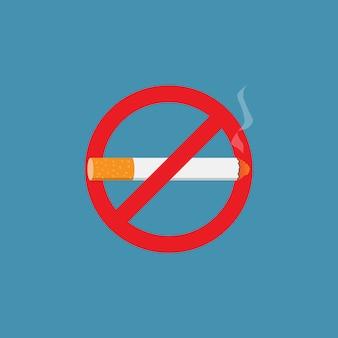 Stop met roken teken