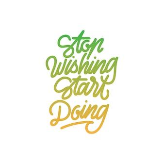 Stop met wensen start handlettering-typografie doen