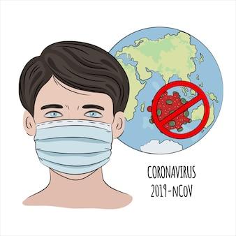 Stop ncov coronavirus gezondheid aarde menselijke epidemie