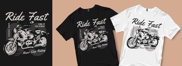 Stop nooit met het berijden van merchandise van het t-shirtontwerp