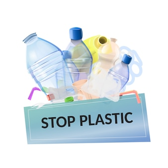 Stop plastic vervuiling