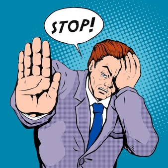 Stop pop-art illustratie