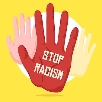 Stop racisme concept