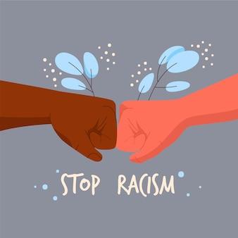 Stop racisme illustratie ontwerp