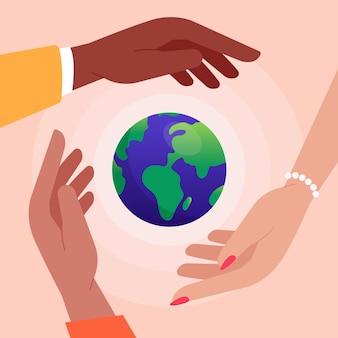 Stop racisme-mensen over de hele wereld