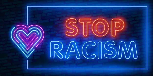 Stop racisme om de protestprotestatie van de samenleving te ondersteunen tegen de wetteloosheid van de politie, geweld, haat voor sociale media, post, banner