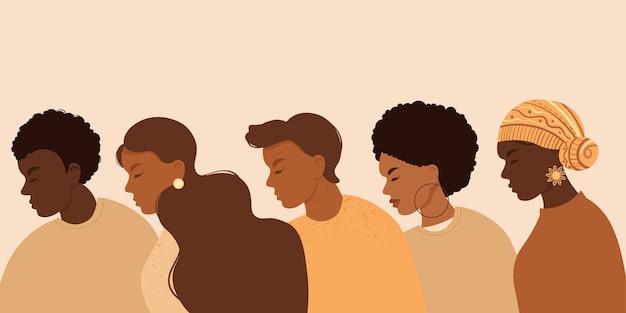 Stop racisme. zwarte levens zijn belangrijk, we zijn gelijk.