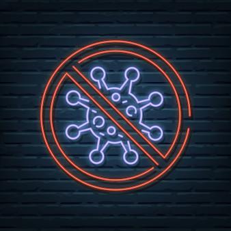 Stop virus neonreclame