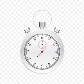 Stop wacht. oude mechanische chronometer. illustratie.