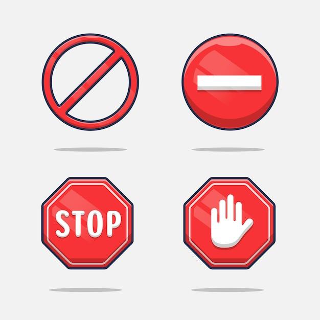 Stopbordmeldingen die niets doen.