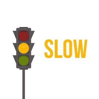 Stoplicht. gele lichten