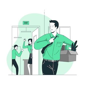Stoppen met een baan concept illustratie