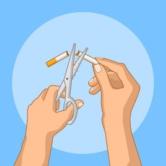 Stoppen met roken concept illustratie