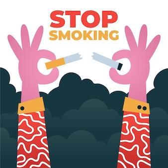 Stoppen met roken concept