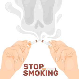 Stoppen met roken illustratie