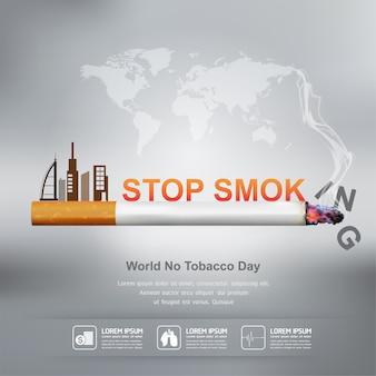 Stoppen met roken posterontwerp