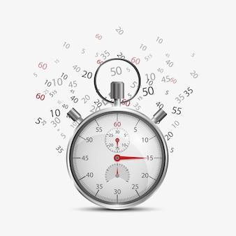 Stopwatch met vliegende nummers