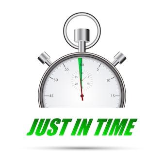 Stopwatch net op tijd