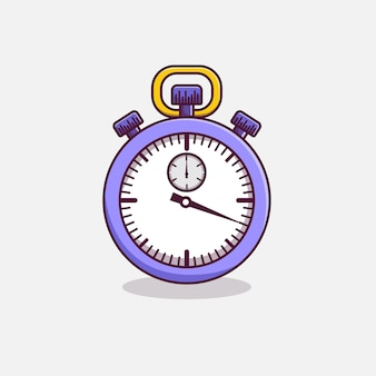 Stopwatch timer cartoon pictogram illustratie