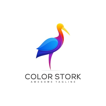 Stork concept illustratie vector sjabloon