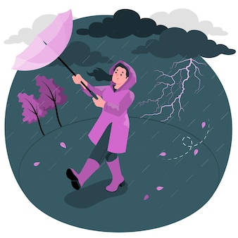 Storm concept illustratie