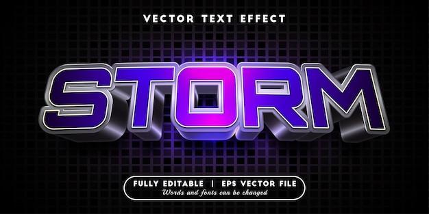 Storm-teksteffect, bewerkbare tekststijl