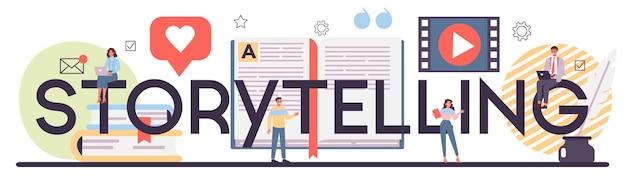 Storytelling typografische header