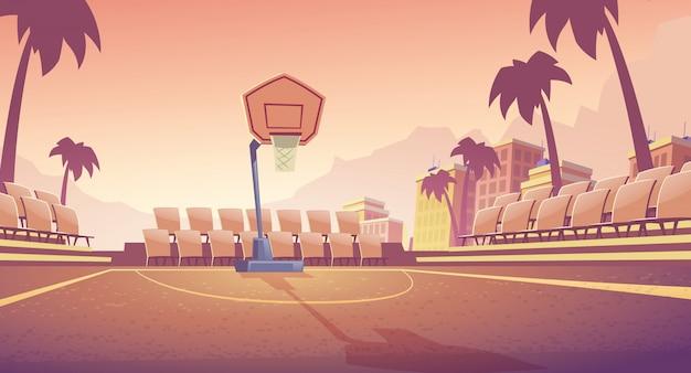 Straat basketbalveld