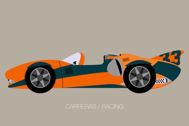 Straat race auto illustratie