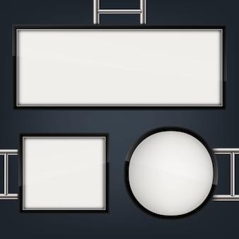 Straatnaambord opknoping gemonteerd verlichte lightbox.
