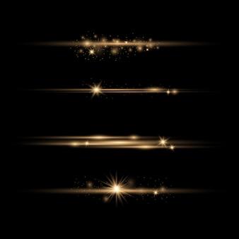 Stralend lichtgevend stof en schittering.