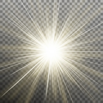 Stralende ster. barstende explosie. transparante achtergrond alleen in