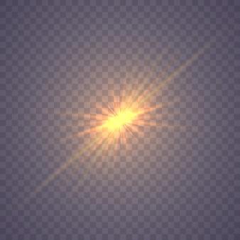 Stralende ster, gloeiend lichteffect