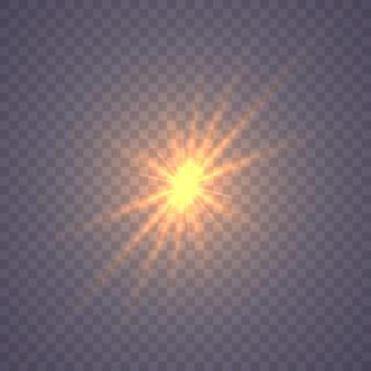 Stralende ster, zonlichteffect