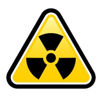 Straling waarschuwingsbord