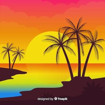 Strand achtergrond
