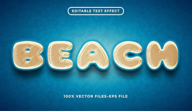 Strand bewerkbare teksteffect premium vectoren