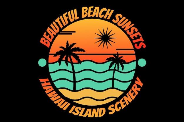 Strand hawaii eiland zonsondergang prachtige zee
